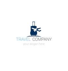 Creative logo of travel company tourism agency vector