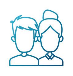 cute couple cartoon vector image