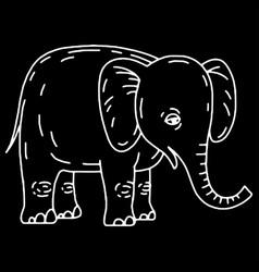 Cute elephant cartoon sitting vector