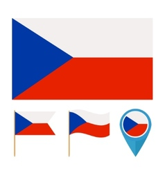 Czech republic country flag vector