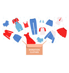 donation clothes help urban needed clothes vector image