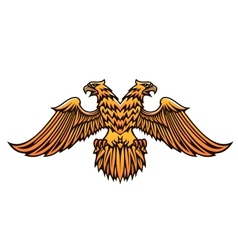 Double headed golden imperial eagle vector