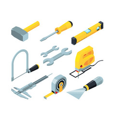 electronic tools for construction isometric vector image
