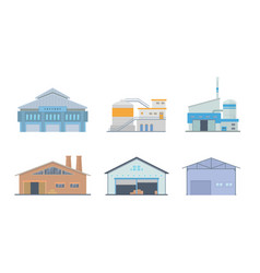 factory building set collection with various type vector image