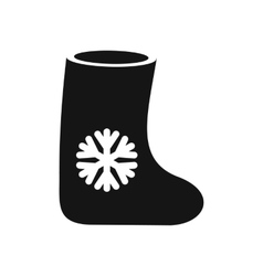 Felt boots icon simple style vector