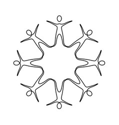 figure people making a star with their legs vector image