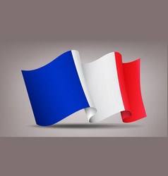 france waving flag icon isolated official symbol vector image