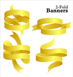 golden banners vector image