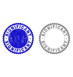 Grunge significant textured stamp seals vector