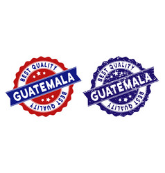 guatemala best quality stamp with grungy effect vector image