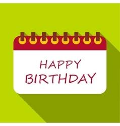 Happy birthday icon flat style vector