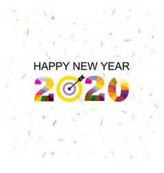happy new year 2020 backgroundcolorful greeting vector image