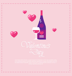 happy valentines day love holiday celebration vector image