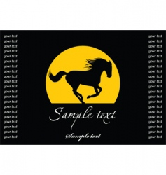 horse silhouette template vector image