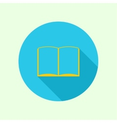 Icon of an open book vector image