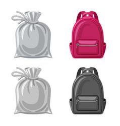 Isolated object of suitcase and baggage logo vector