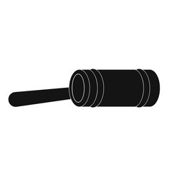 justice gavel icon simple style vector image