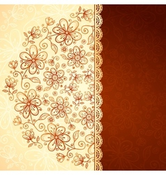 Lacy vintage flowers background vector