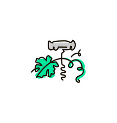 Line icon corkscrew vector