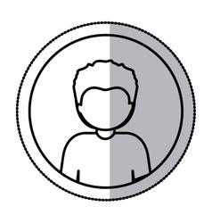 Man profile pictogram vector