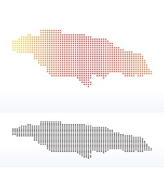 Map of Jamaica with Dot Pattern vector image