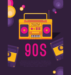 Music of the 90s vector