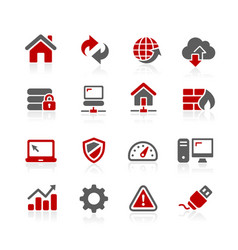 network developer icons vector image vector image