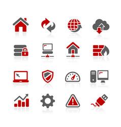 Network developer icons vector