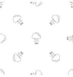 oak pattern seamless vector image