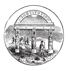 Official seal of the us state of georgia vector