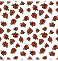 Pattern with red roses vector image