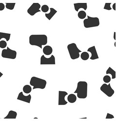 people with speech bubble icon seamless pattern vector image