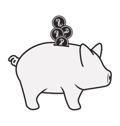 piggy moneybox icon vector image