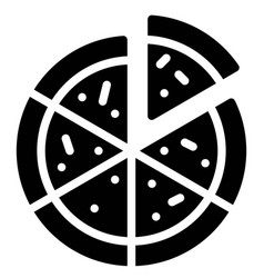 Pizza icon birthday party related vector