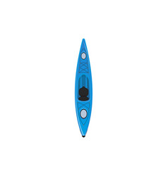 Plastic blue sport kayak isolated icon vector