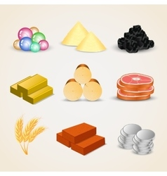 Resource icons for games vector