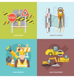 Road Worker Flat vector image