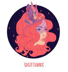 Sagittarius astrological sign vector