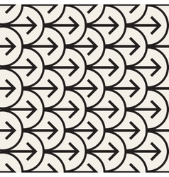 Seamless Black And White Arrows Arcs vector image