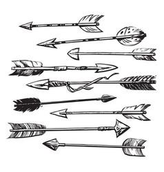 Set 9 ethnic indian arrows vector