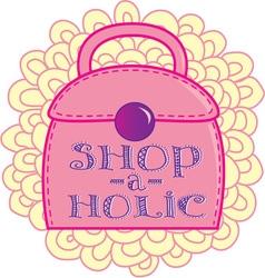 Shop-a-Holic vector image