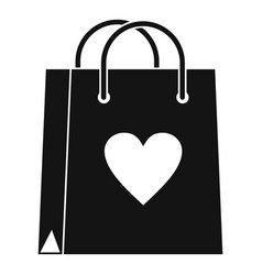 shopping bag icon simple style vector image
