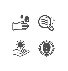 Skin condition sun protection and rubber gloves vector