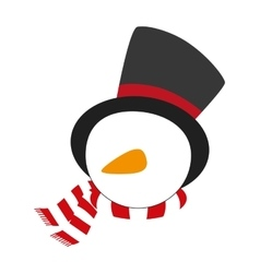 Snowman xmas cartoon vector