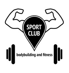 sport club vector image