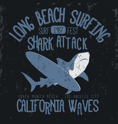 Surfing t-shirt graphic design vector