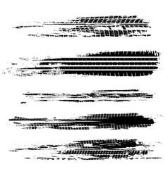 Tire tracks marks vector