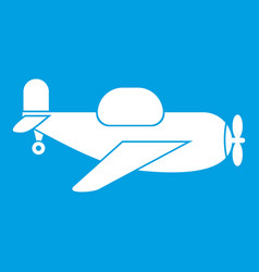 Toy plane icon white vector