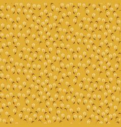 Tulip vintage mustard yellow colors seamless vector