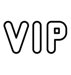 Vip inscription icon outline style vector